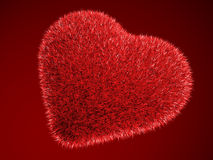 Red hairy heart Stock Photography