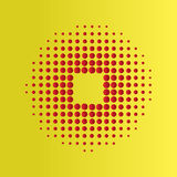 Red Halftone circles  background, halftone dot pattern. Royalty Free Stock Images