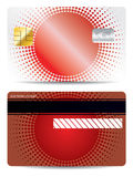 Red halftone credit card design Stock Photography