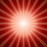 Red halftone shine effect Stock Images