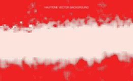 Red halftone vector Royalty Free Stock Photos