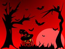 Red Halloween night Royalty Free Stock Image