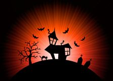Red halloween nightmare world background Stock Photo