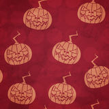 Red halloween pumpkin seamless pattern. (eps 10 vector file royalty free illustration