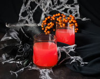 Red halloweens cocktails for party Royalty Free Stock Image