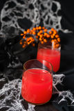 Red halloweens cocktails for party Royalty Free Stock Images