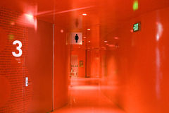 Red hallway Stock Photos
