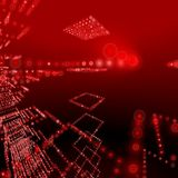 Red halo matrix background Royalty Free Stock Photography