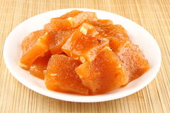 Red halwa. Famous South Indian Sweet Halwa Royalty Free Stock Photo