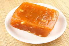 Red halwa  from Kerala cuisine. Plate of Red halwa  from Kerala cuisine Royalty Free Stock Image
