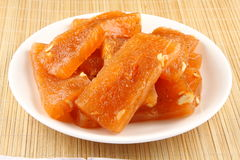 Red halwa slices  Kerala cuisine. Plate of Red halwa  from Kerala cuisine Stock Photography