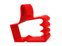 Red hand Royalty Free Stock Photo