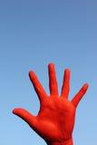 Red_hand Imagens de Stock