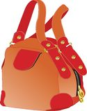 Red hand bag Stock Image