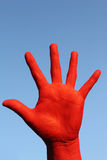 Red_hand Stock Photography