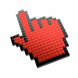 Red hand cursor Stock Photography