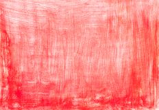 Red hand painted background with vertical and horizontal white brush strokes. Background, texture stock photo