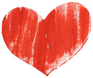 Red hand painted heart Royalty Free Stock Images