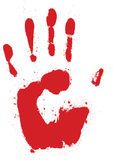 Red hand print Stock Photography