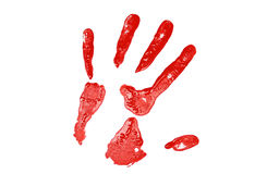 Red Hand Print Stock Images