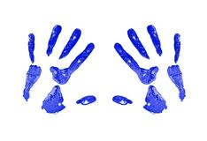 Red Hand Print royalty free stock photography