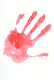 Red hand print Stock Photo