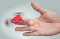 Red Hand spinner Royalty Free Stock Photo