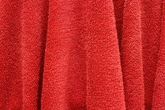 Red hand towel Royalty Free Stock Images