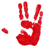 Red Hand Track Stock Photo