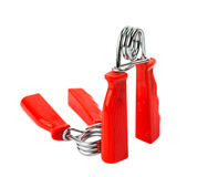Red hand trainer Stock Photography