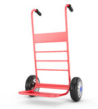 Red hand truck Royalty Free Stock Images
