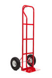 A red hand truck on white Stock Photo