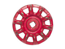 Red hand wheel Royalty Free Stock Images