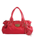 Red handbag. On white background Royalty Free Stock Photos