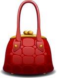 Red handbag. Over white. EPS 8 Royalty Free Stock Images