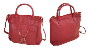 Red handbag Stock Images