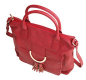 Red handbag Stock Photos