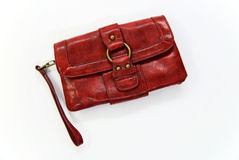 Red handbag on white Royalty Free Stock Photography
