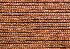 Red handcraft rattan woven texture Royalty Free Stock Photography