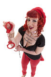 Red handcuff for you Royalty Free Stock Image