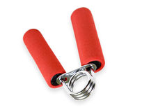 Red handled hand grip for warm-up Royalty Free Stock Image