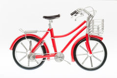 Red Handmade Bicycle Figure Stock Image