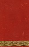 Red Handmade Paper. A handmade paper in traditional hindu red color with a an artistic golden signing strip below Stock Image