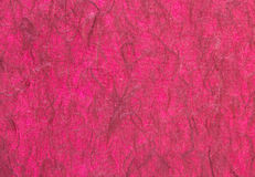 Red handmade paper or mulberry paper texture Royalty Free Stock Photo