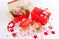 Red  handmade soap Stock Photos