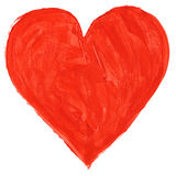 Red handpainted heart Royalty Free Stock Image