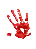 Red handprint Royalty Free Stock Photos