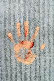 Red_handprint Photographie stock libre de droits