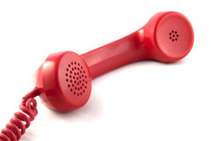 Red handset. Royalty Free Stock Image
