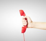 Red handset Royalty Free Stock Photo